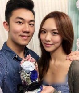 馮盈盈與醫生男友鍾文浩經常放閃。