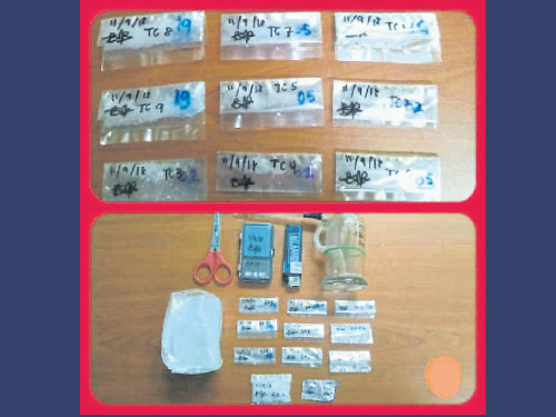 警方起獲各類毒品及吸毒用具。