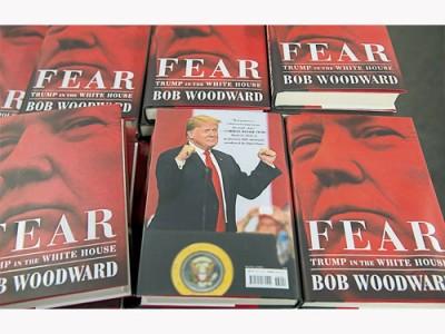 ■伍德沃德新書《恐懼:特朗普入主白宮》週二出版,揭露特朗普上任總統以來的種種內幕。(歐新社)