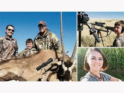阿什莉鼓勵兒子去打獵,認為是最好不過的親子活動。(互聯網)