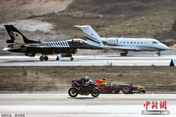 F1赛车、重型摩哆、客机、F16战机,在机场跑道上上演对决。