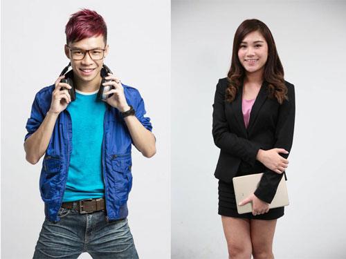 "Ai FM电台主持人谢劲程(左)将搭档《中国报》""新闻抢鲜报""主播张家祯主持。"