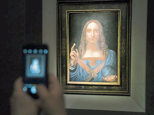 《救世主》是名画拍卖史上成交价最高的作品。