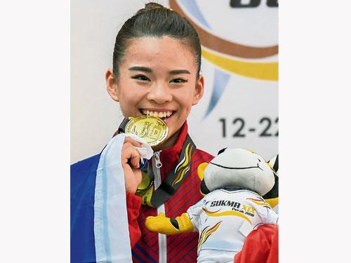 陳昌敏在女子南拳以明顯優勢,為馬六甲添金牌。