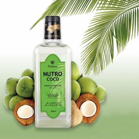 NUTROCOCO初榨椰子油從新鮮的椰漿中萃取椰油,100%天然,是具 有最多功效的天然油脂之一。
