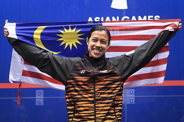 ■妮柯在印尼亞運會奪得個人賽金牌,可惜卻失去馬月團體金牌。