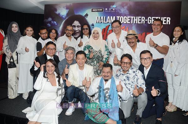除了劉德華外,電影公司高層、導演和7位演員也一同出席電影慶功宴。
