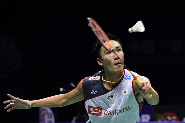 新一代羽球天王桃田贤斗确定会参加2018/19赛季马来西亚紫盟羽球联赛。(档案图/新华社)