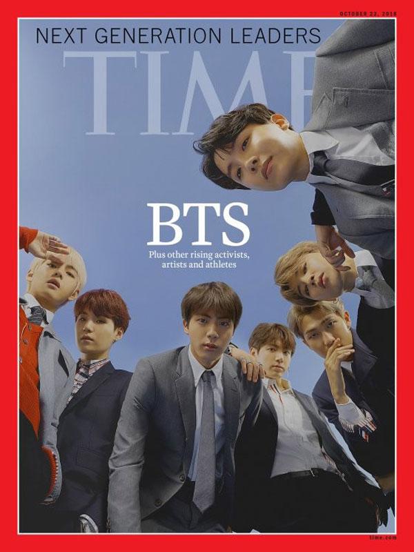 """韩国男团""""BTS防弹少年团""""风潮席卷全世界,日前受邀赴联合国演讲,现在又登上美国《时代》杂志最新一期封面。"""