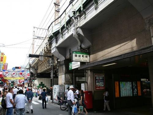东京台东区上野的JR御徒町站。