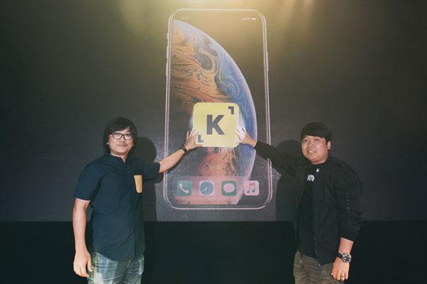 Ace Media Network总执行长黄炳森(左)及总营运长黄祖明为 KOMACI主持推介,通过该平台为品牌商家及网红打造双赢局面。