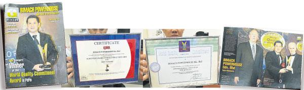 """李清龙2013年前往法国巴黎领取由国际权威商誉质量评估组织 B.I.D颁发的""""世界品质承诺金奖"""",之后再于2014年获欧洲质量研究协会(ESQR)颁发"""" 质量管理最佳实践金奖""""殊荣。"""