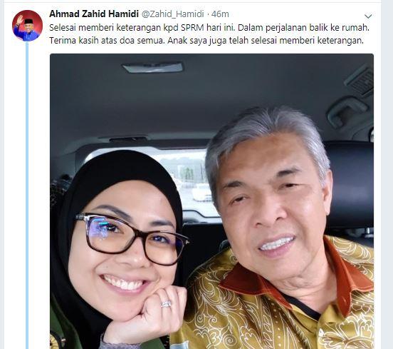 阿末扎希不经意在推特戳破努鲁希达雅也一并录供的问题。