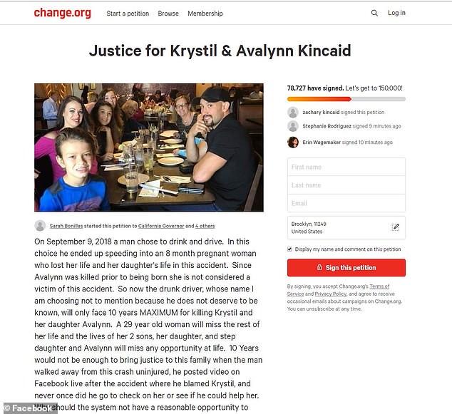 """金赛德也在""""Change.org""""发起请愿,希望国家能对醉驾加重刑罚,才能有效杜绝醉驾所带来的生命危害。"""
