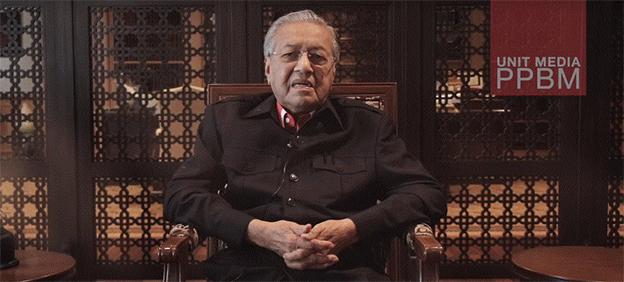 马哈迪在视频中聊及对巫统及土团党意见。