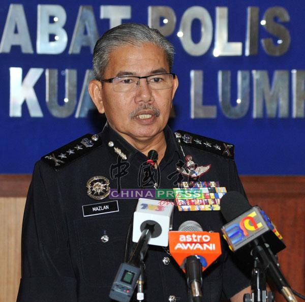 马玆兰宣布警方逮捕5名本地男子,揭发该赌博集团每个月的收注额达336万令吉。