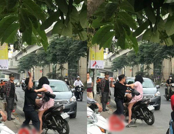 男子在街上殴打女友并拉扯她的头发,被路人拍下照片和视频上传至社交网站。