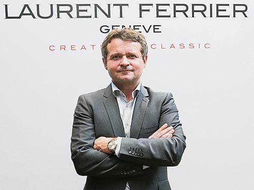 """品牌创办人的儿子Christian Ferrier:""""让精良的制表传统回归。""""Laurent Ferrier腕表令人感受到严谨的设计与古典美学一气呵成,经典的表壳设计,回应着19世纪怀表的外形,低调却经得起时间的考验。"""