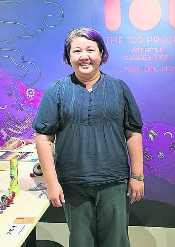 108计划策展人李丽娟希望文创手作人,好好把握难得机会,利用这个平台推展他们的 品牌。