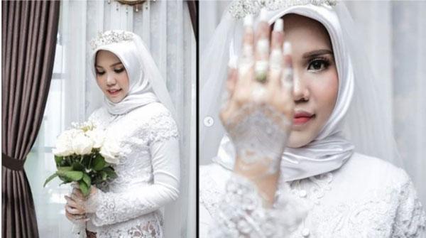 尽管未婚夫在婚礼前,不幸因空难逝世,然而新娘英丹依然如期穿上婚纱,完成婚礼。