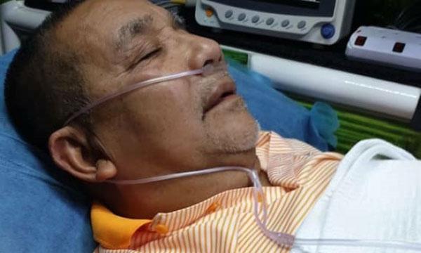 社交媒体流传的照片,显示依沙在接受医疗检查中。