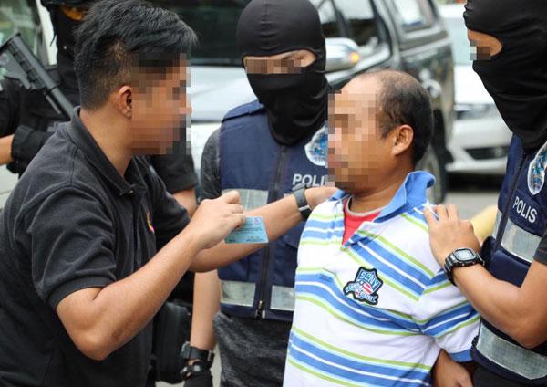 警方在沙巴兰瑙逮捕46岁菲律宾籍男子。