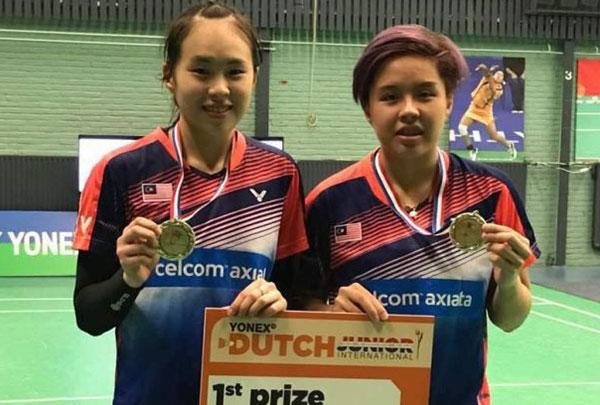 陈康乐(左)与杜依蔚。(档案照)