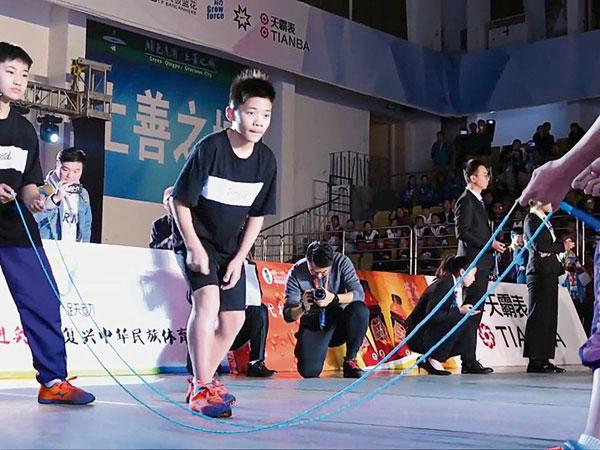 ■黄俊凯再破交互绳世界纪录。
