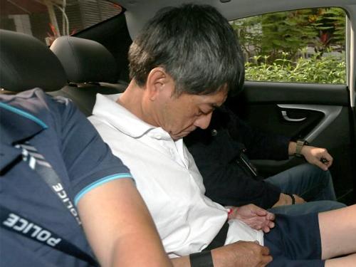 嫌凶陈添财今早被控谋杀。(图:海峡时报)
