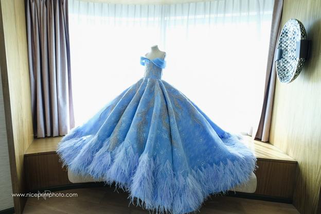Isabella在生日会穿上的礼服据说价格不菲。(取自Nice Print Photography & Exige Weddings 面子书)
