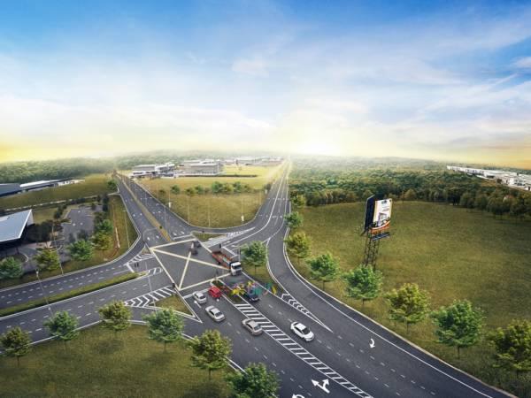 森德埔莱通往马新第二通道的新道路,于8月25日正式通车。