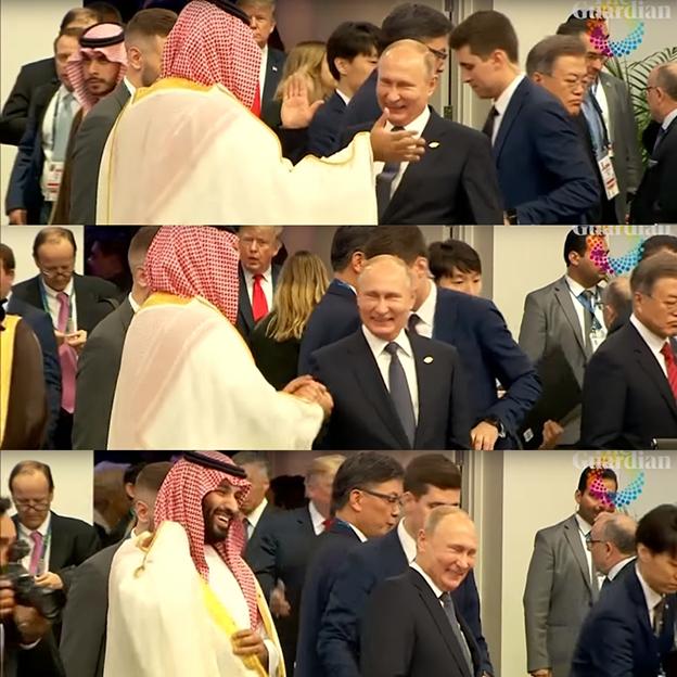 普汀与沙地王储相见欢。