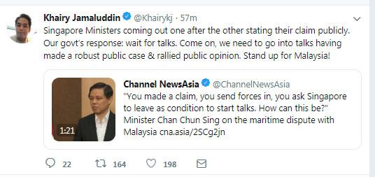凯里推文吁人民全力的支持马来西亚。