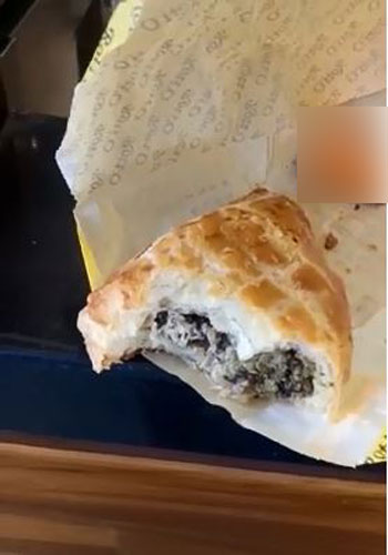 上千只的蛆虫出现在面包内,乍看之下以为是椰丝,近看却发现这些蛆虫在面包内蠕动着,超级恶心。