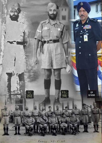 来自霹雳州怡保近打的阿马星,其祖父和父亲皆在警队服务过,一群神通广大的网民找回他祖父和父亲当年穿着警服摄下的照片,并将3人的照片合拼在一起。