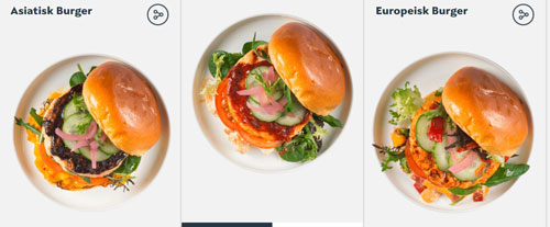 这里提供不同风味的鲑鱼汉堡包餐单,亚洲、欧洲与美洲风味,任你选择。