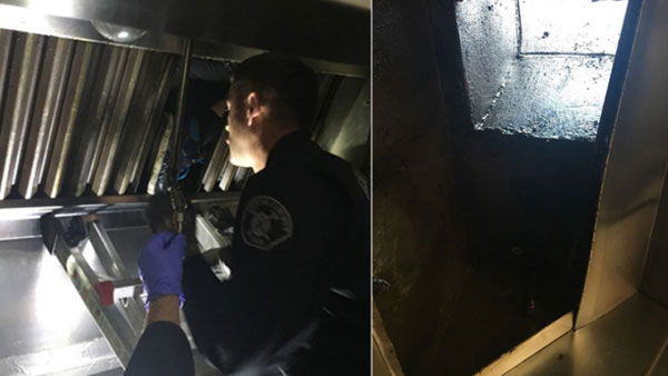 消防员及警员到场将他救出。