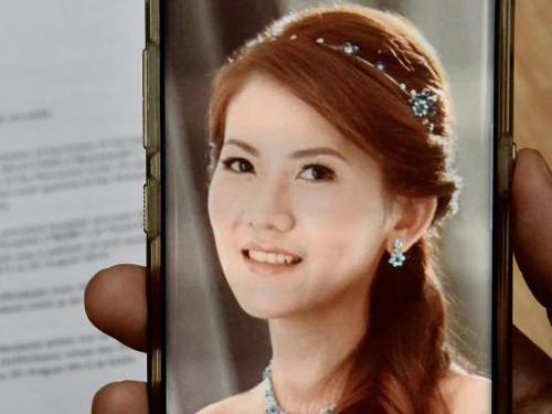 汪燕婷的婚照最终竟成遗照。(受访者提供)