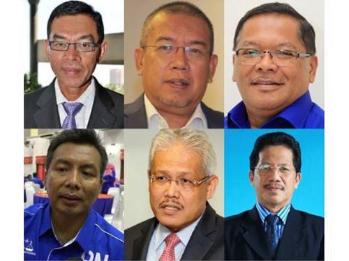 6名巫统国会议员,包括一名前部长今日宣布退党,令巫统国会议席减至38席。
