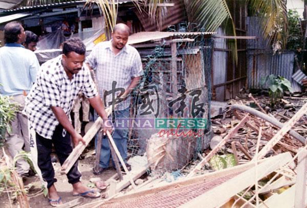 有些居民的住家,也在骚乱事件中被破坏。