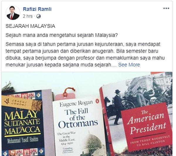 拉菲兹邀网友评论,针对马来人的各种印象。