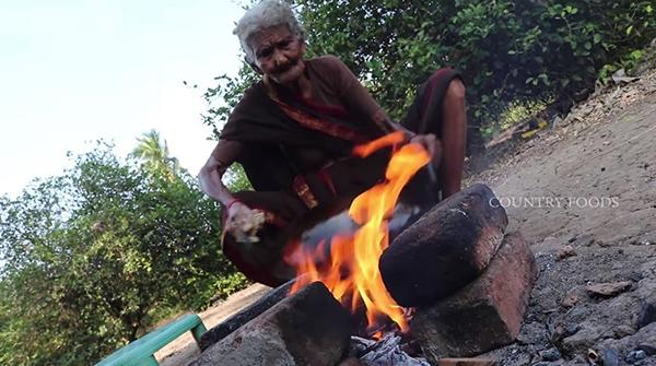展现印度佳肴厨艺而走红全球的印度107岁老奶奶马斯坦娜玛。