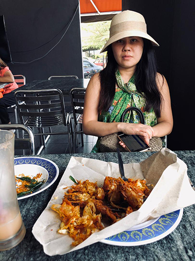 郑洁慧不满4只甘香海虾收费48令吉,决定向贸消部投诉。