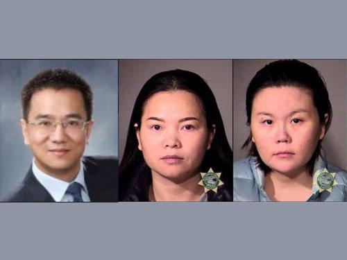 左一为中国籍主嫌陈宗涛。警方已经逮捕陈宗涛与其他4名嫌犯,其中包括右图2名女子。