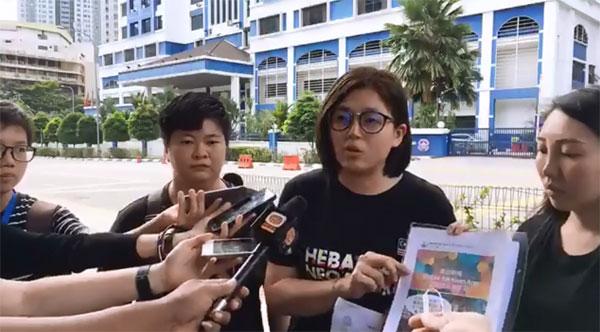 苏仪芳报警举报网民,向她发出恐吓和严重性骚扰。