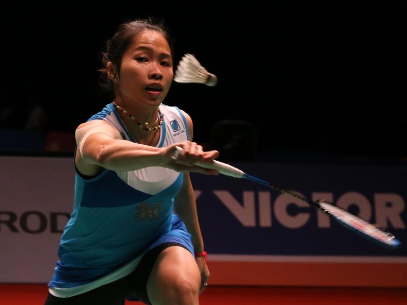 泰国女单卫冕冠军拉查诺。
