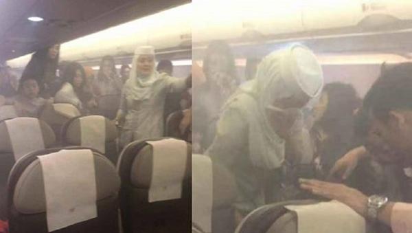 汶莱客机有乘客的充电器冒烟起火。
