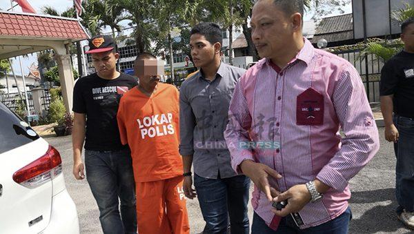 嫌犯被押往峨仑法庭申请延扣。