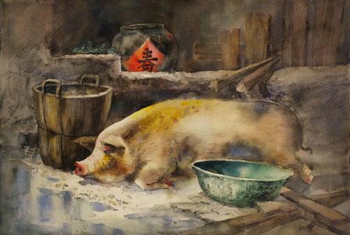 《福猪庆丰年》