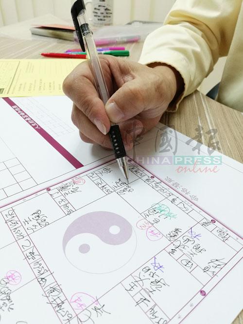 拜仁老师用紫微斗数排盘。
